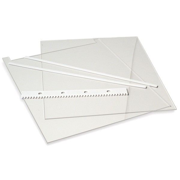 10x10cm Notched Glass Plates 2mm (2p.)