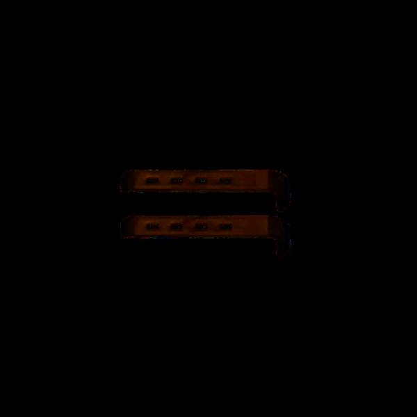 2 Retraktor-Valven 4 x 2 cm