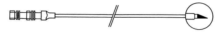 3-teilige Punktionsnadel GA18, Länge: 20cm mit schräger Spitze