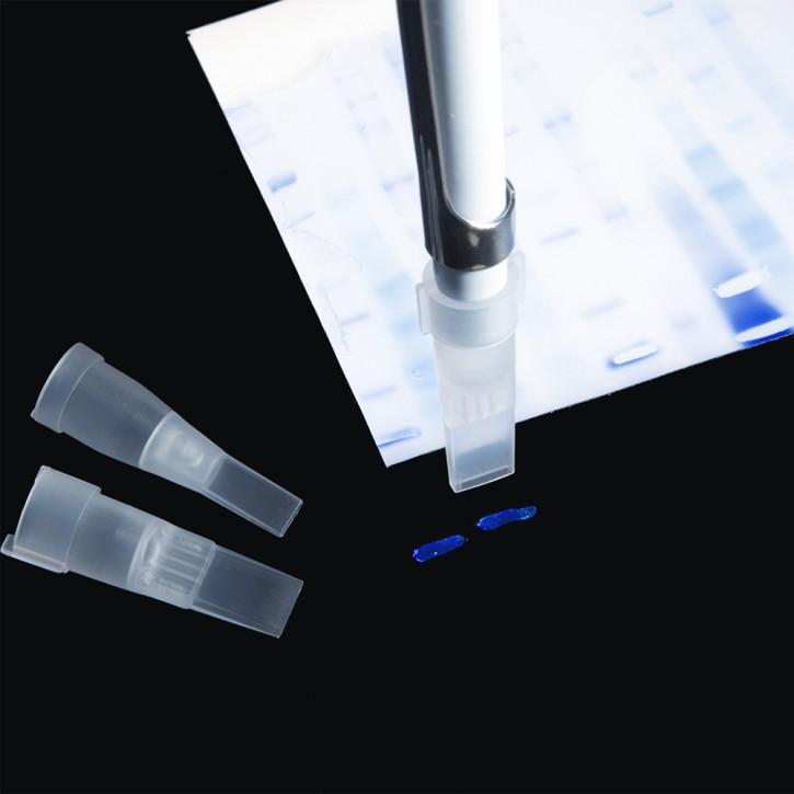 Gel Cutting Tips racked, 4mm x 1mm (240p.)