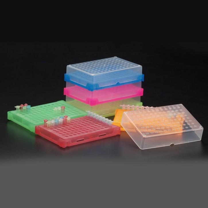 96-Well interlocking PCR Rack Orange (5 p.)