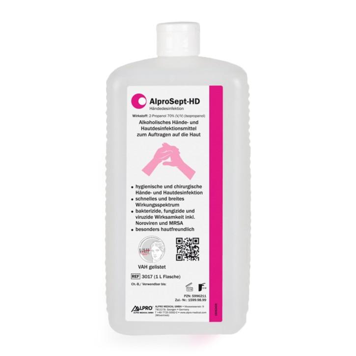 AlproSept-HD (1L Flasche) zur chirurgischen Händereinigung u. -desinfektion