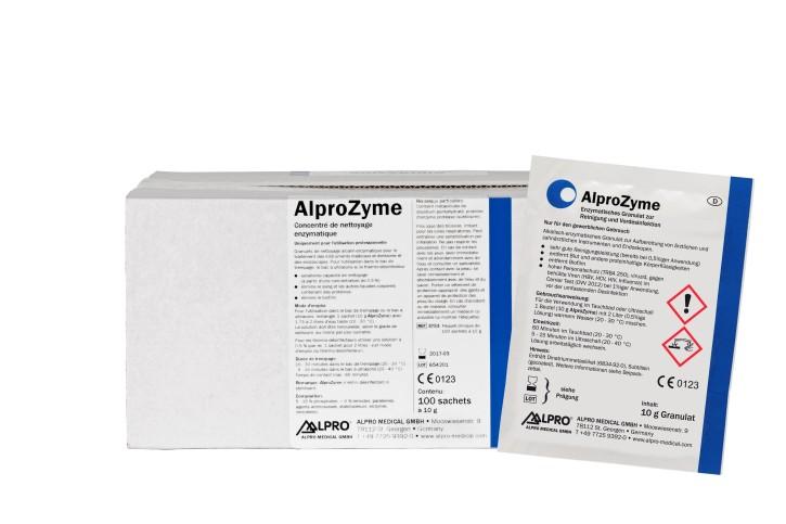 AlproZyme (Karton mit 100 Beuteln à 10g) zur manuellen Vorreinigung und -desinfektion
