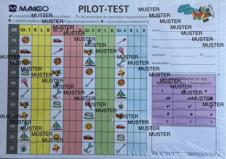 Auswerteblock Pilot/Ton Maico Block à 50 Blatt