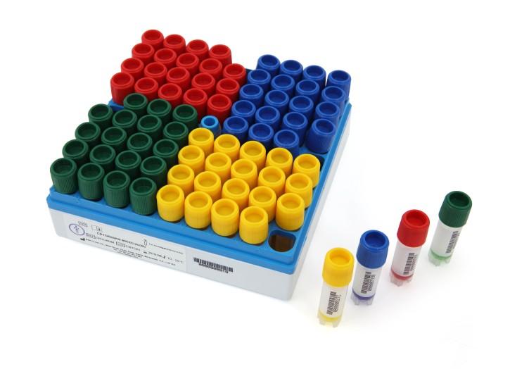 Cryobank® - 80 gemischte Röhrchen mit Kryomedium barcodiert