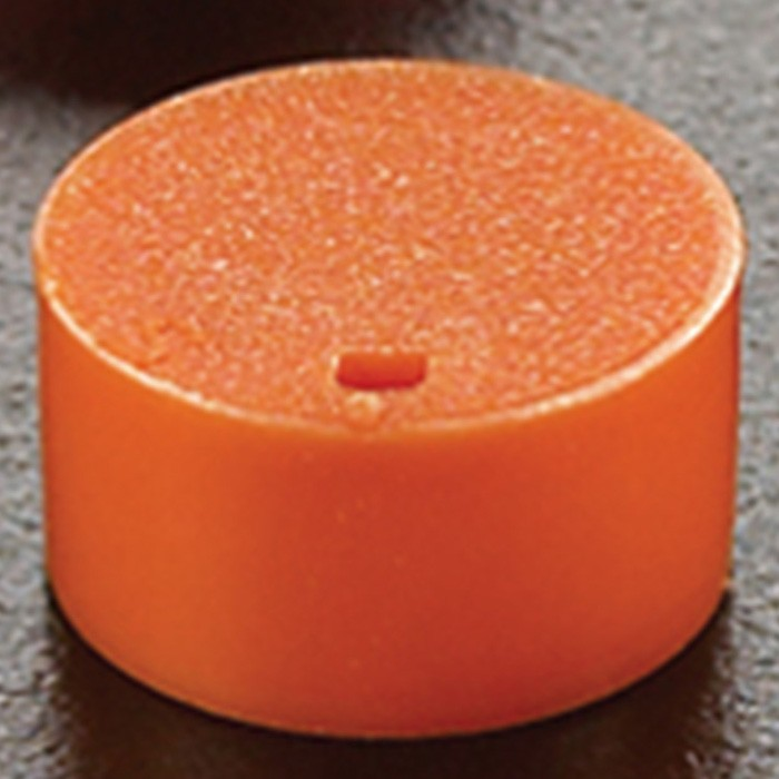 Cryogenic Vial Cap Inserts Orange (500 p.)