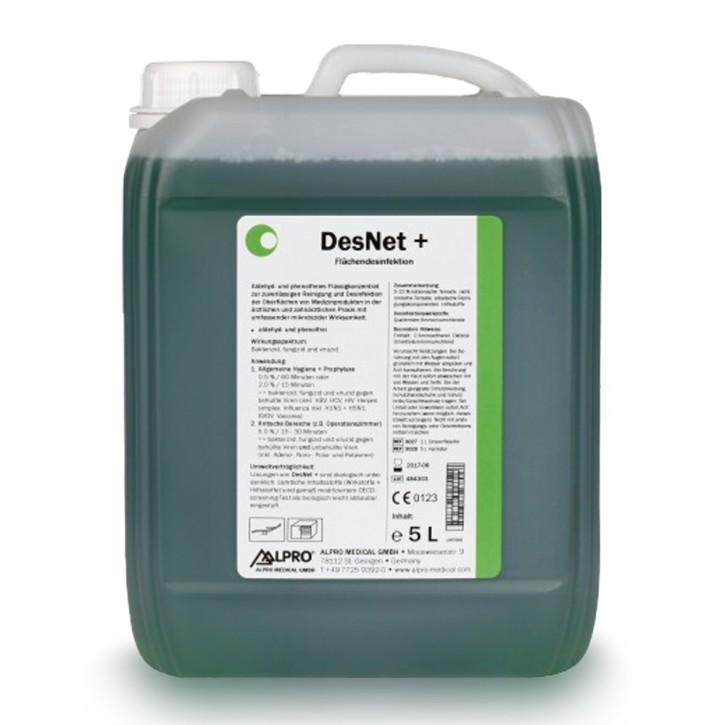 DesNet + (5L Kanister, 1.000 L bei 0,5%) zur Oberflächenreinigung und -desinfektion