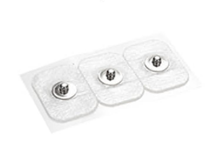 Einmalelektroden mit Druckknopf, 3x2,2cm mit Gel für EEG, AEP, ABR, 60 Stück