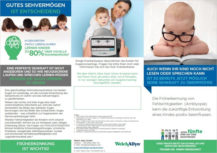 Amblyopia screeening - flyer for parents