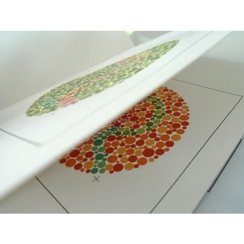 Farbtafeln nach Ishihara f. Kinder u. Analphabeten / 10 verschiedene Tafeln