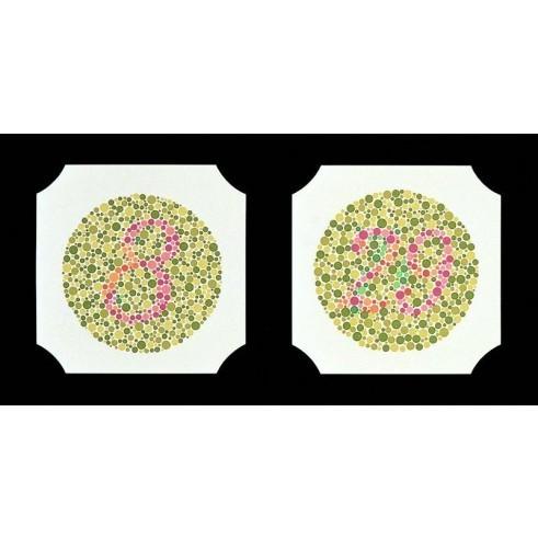 Farbtafeln nach Ishihara 24 verschiedene Tafeln