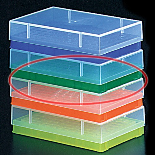 0.2ml PCR Tube Rack with Lid Green (5 p.)