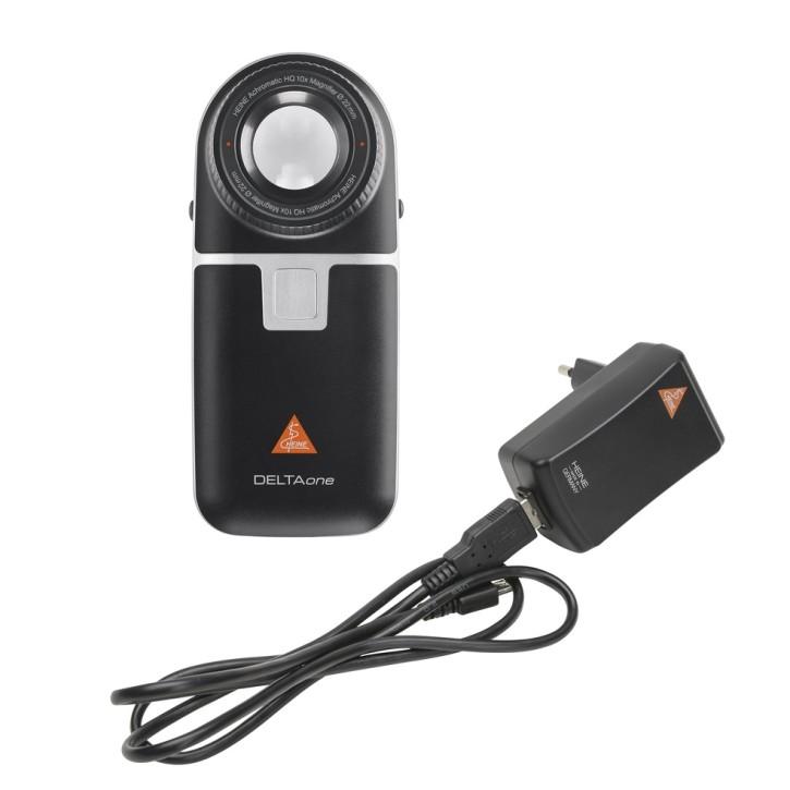 HEINE DELTAone Dermatoskop Standard Edition Kontaktscheibe mit Skala, USB Kabel, med. Netzteil
