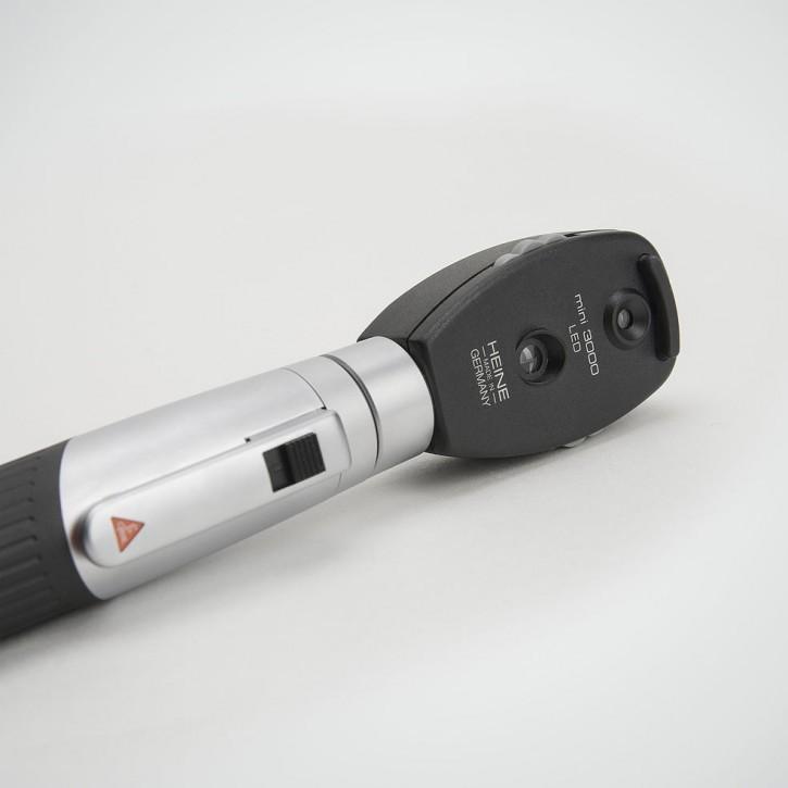 Heine mini3000 LED Ophthalmoskop + F.O. Otoskop Batt-Griff,4x Dauertip,5x AllSpec 2,5 u. 4mm, Etui