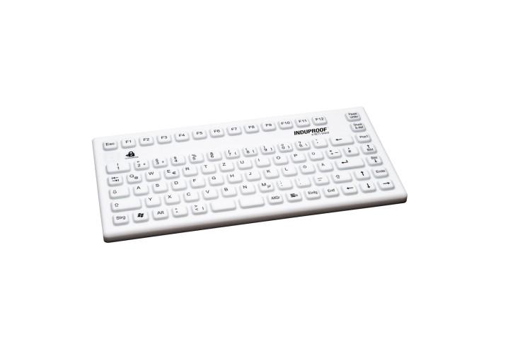 Kompakte Silikontastatur USB; weiss; ohne Maus