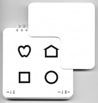 LEA Ferntafel mit 4 Einzelsymbolen, 3m