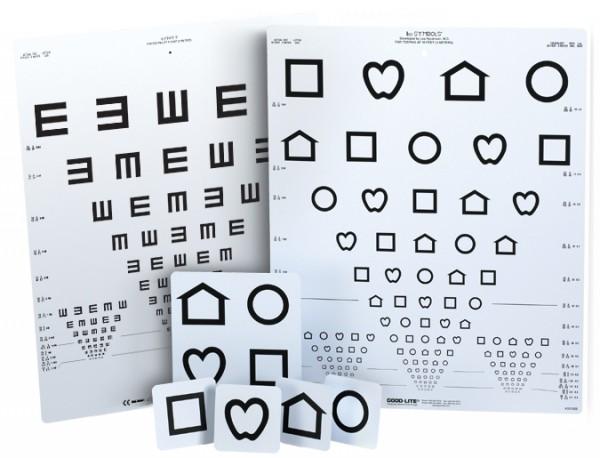 LEA distance vision test charts