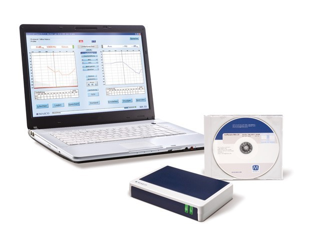 MA33 PC Screening Audiometer LL-Hörer, Pat-Taste, Software