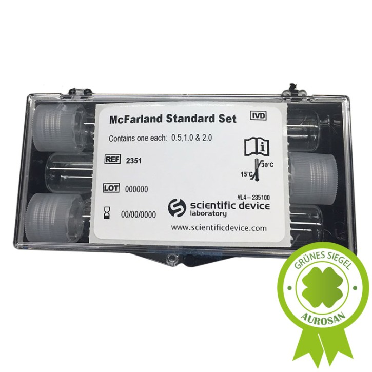 McFarland Standards (0,5-1-2) passend zum Densitometer MD5728