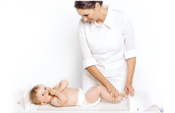Meßmatte Seca 210 f. Säuglinge und Kleinkinder / weiß