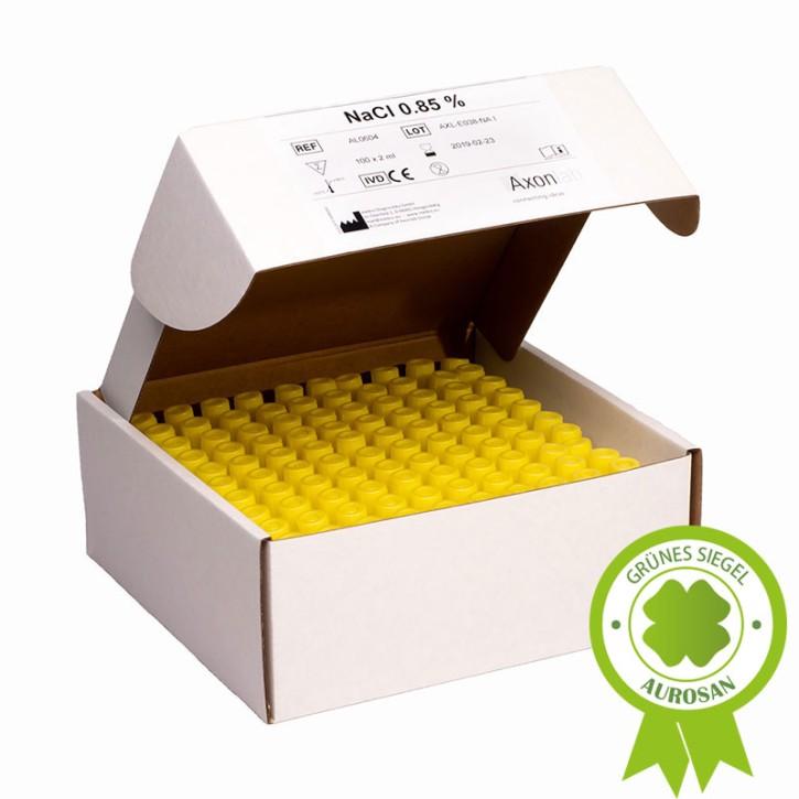 NaCl 0,85% , 100x2ml Röhrchen laborsteril