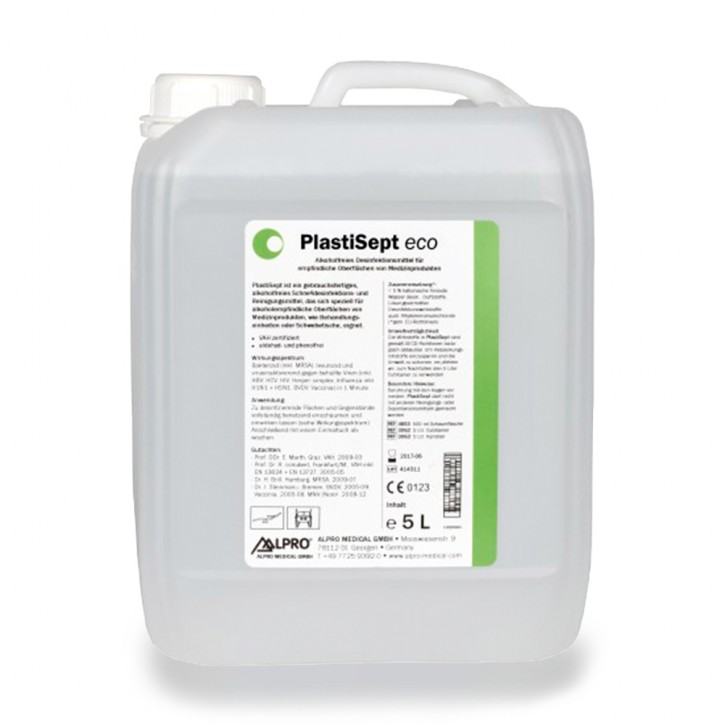 PlastiSept eco (5L Kanister) zur Oberflächenreinigung und -desinfektion
