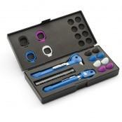 Pocket PLUS LED-Sets Otoskop + Ophthalmoskop mit AA Griff, mit Zubehörbox, verschiedene Farben