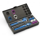 Pocket PLUS LED Set Otoskop Ophthalmoskop mit AA Griff Welch Allyn royalblau