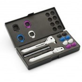 Pocket PLUS LED Set Otoskop Ophthalmoskop mit AA Griff Welch Allyn perlweis