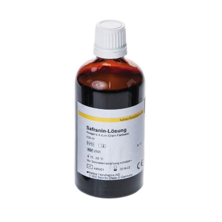 Safranin-Färbelösung 1 L für Gramfärbung