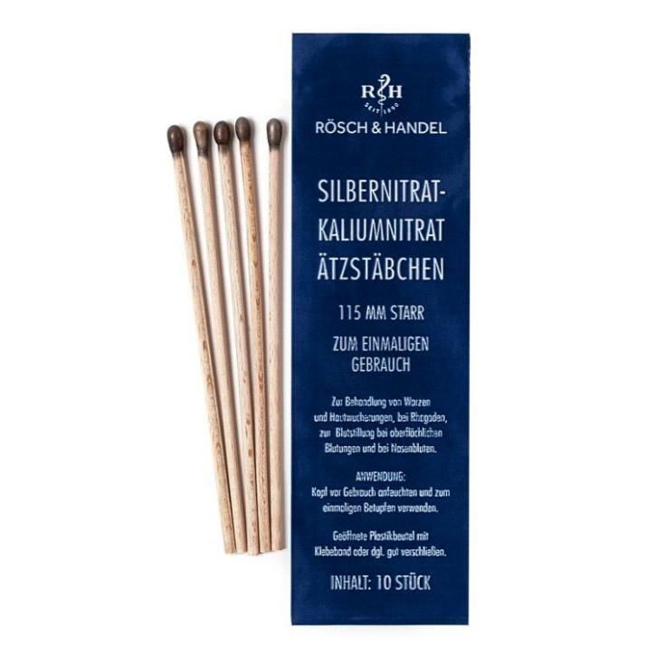 Silbernitrat - Kaliumnitrat Ätzstifte, 115mm 1 Beutel = 10 Stck.