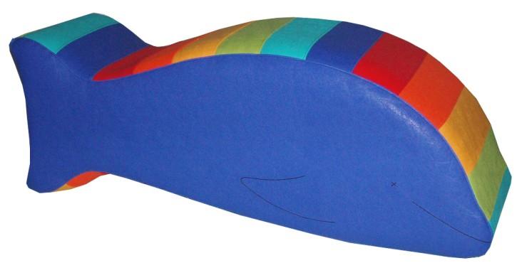 Spielobjekt Regenbogen Delphin   B/T/H in cm 84/25/31