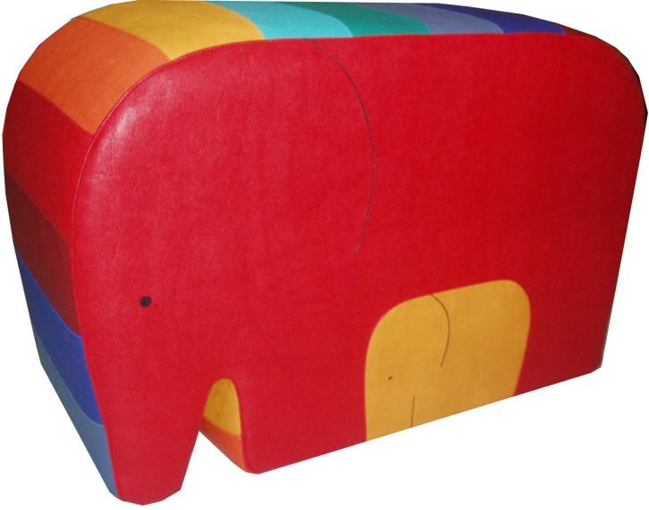 Spielobjekt Regenbogen Elefant  B/T/H in cm 63/25/40