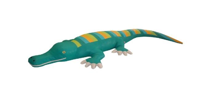 Spielobjekt Krokodil mittelgroß  B/T/H in cm 75/200/25