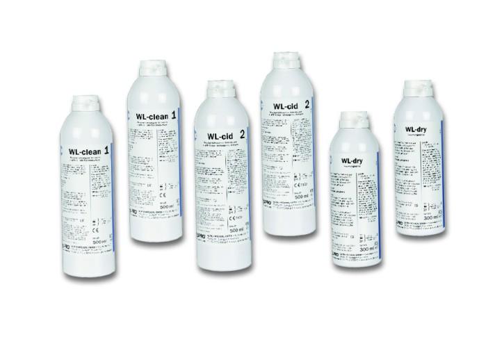 StarterSet WL-dry(2xWL-clean, 2xWL-cid, 2xWL-dry) zur Innenreinigung u.-desinfektion v. Instrumenten