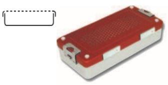 Steri-Box klein Mini-Container 300x140x70 mm ALU Silber
