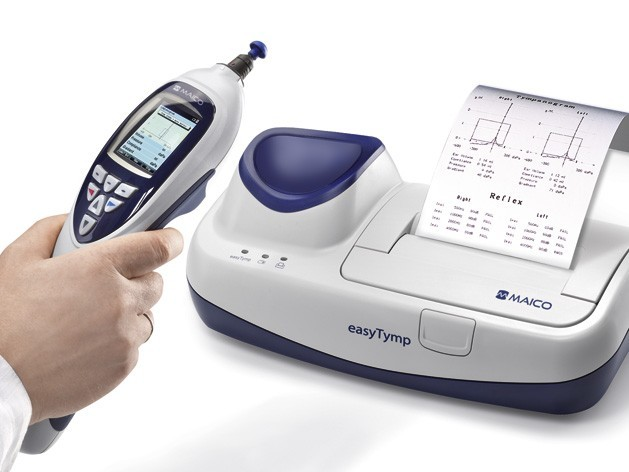 Tympanometer easyTymp mit Basisstation Tympsoftware Sessions und (externen) Drucker