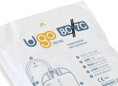 Ugo Beinbeutel 750 ml, 5-25cm, Schwenkh (1 Stck) steril, Schlauch mit Textilbeschichtung