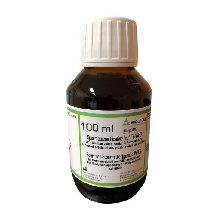 WHO-Puffer z. Spermienfixierung (100ml) enthält 20mg/l Gentianaviolett
