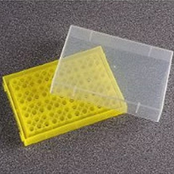 0.2ml PCR Tube Rack with Lid Yellow (5 p.)