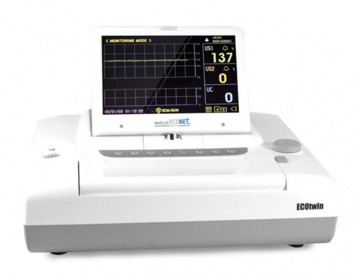 Zwillings Fetalmonitor ECOtwin LCD 7""