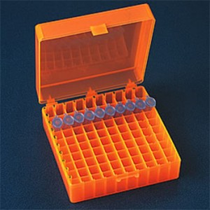 100-Pos. Freezer Storage Rack Orange (5 p.)