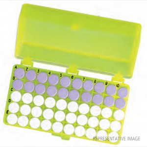 50-Pos. Freezer Storage Rack Green (5 p.)