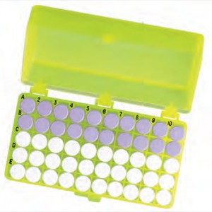 50-Pos. Freezer Storage Rack Yellow (5 p.)