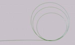 Edelstahl Führungsdraht PTFE beschichtet 0.038''  150cm, gebogene Spitze